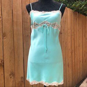 Victoria's Secret Sea Foam Chemises Slip Dress